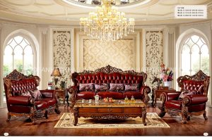 Sofa cổ điển phòng khách mang dáng vẻ quyến rũ, sang trọng