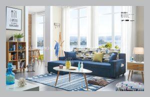 Sofa giường đa năng màu xanh với sắc thái nhẹ nhàng, tự do