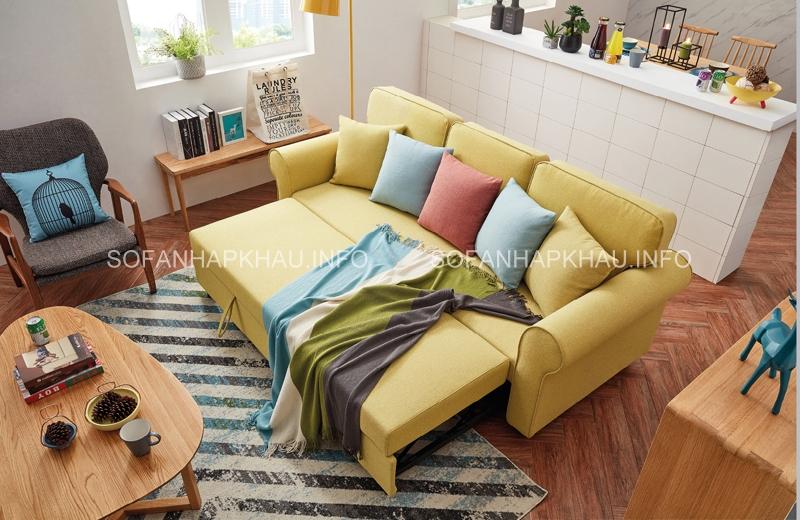 Ngoài vẻ đáng yêu, sofa giường thông minh màu vàng còn rất đa năng và tiện ích