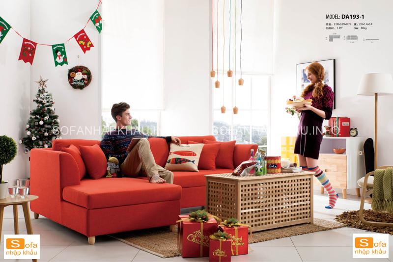 Sofa giường thư giãn với màu đỏ quyến rũ