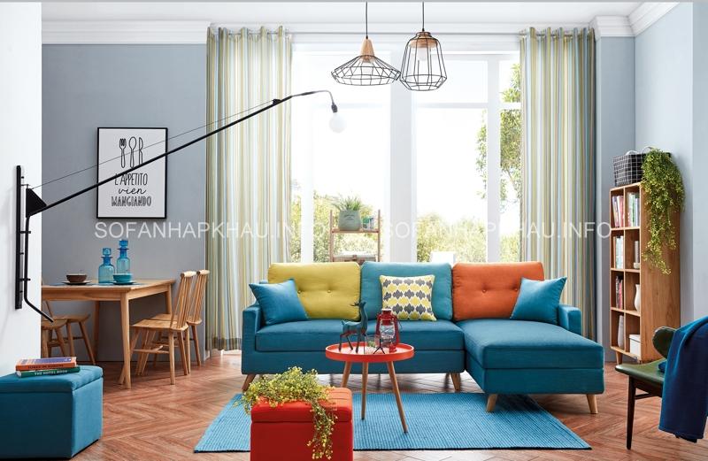 Thổi bay cái nóng cùng sofa giường nhập khẩu màu xanh mát dịu