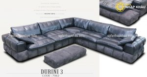 Ghế sofa da thật êm ái và sang trọng, đẳng cấp