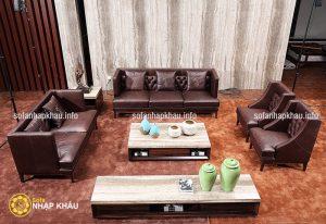 3 mẫu sofa da nhập khẩu cho phòng khách sang trọng