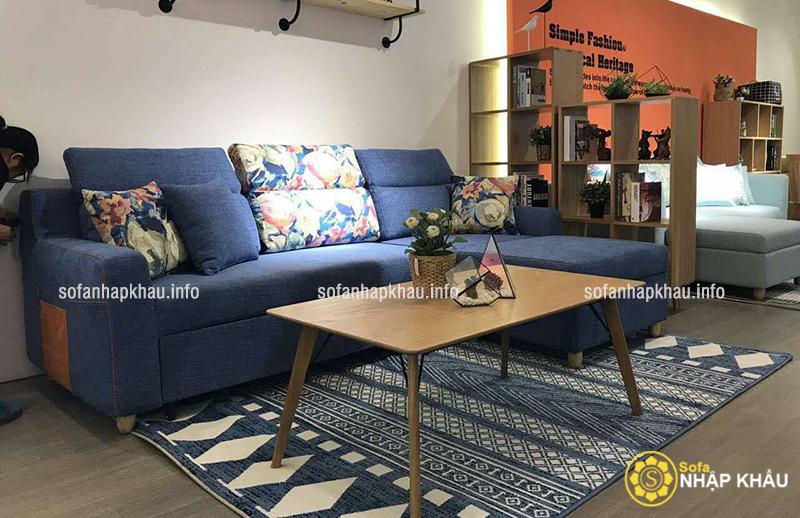 Ghế sofa giường góc bằng chất iệu nỉ cao cấp mềm mịn