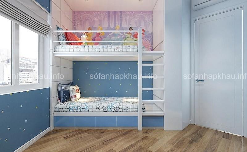 Tổng hợp những mẫu phòng ngủ tông xanh da trời cho bé trai