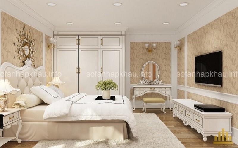 Tổng hợp những mẫu phòng ngủ cổ điển Pháp đẹp mê hồn