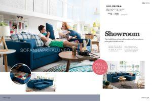 Màu xanh thư giãn của Sofa giường đa năng giúp căn phòng của bạn thoáng hơn, rộng hơn