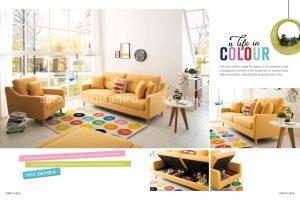 Sofa giường thông minh màu vàng đem lại vẻ tươi sáng và trẻ trung cho ngôi nhà bạn