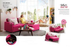 Sofa giường thông minh nhập khẩu màu hồng - rực rỡ cả căn phòng đúng không nào?